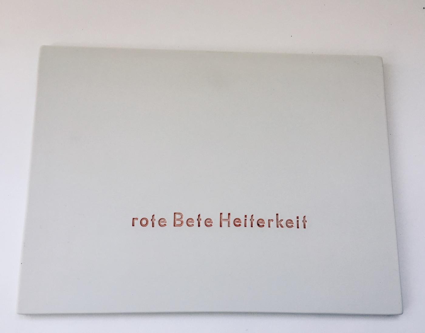 Schriftbrett - Rote Bete Heiterkeit